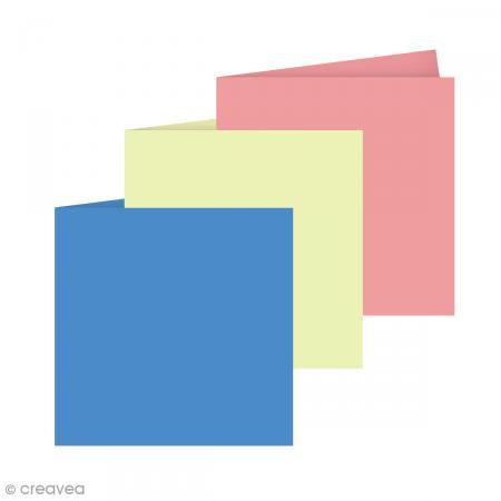 carte double grain de pollen 19 coloris 135 x 135 mm 5 pcs enveloppe 140 x 140 creavea. Black Bedroom Furniture Sets. Home Design Ideas