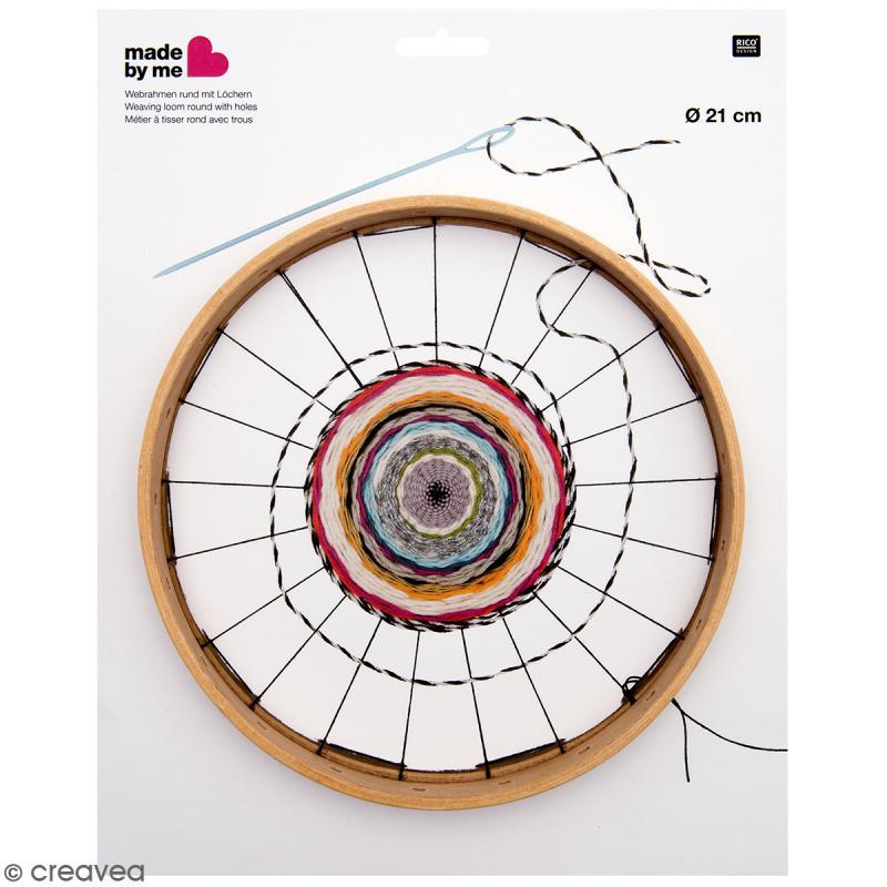Métier à tisser Rond avec trous - Diamètre 21 cm - Photo n°1