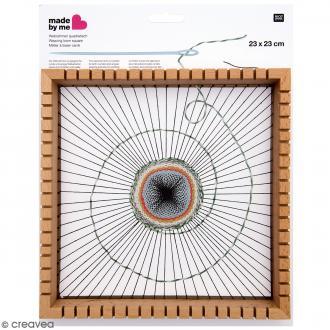 Métier à tisser Carré avec fentes - 23 x 23 cm