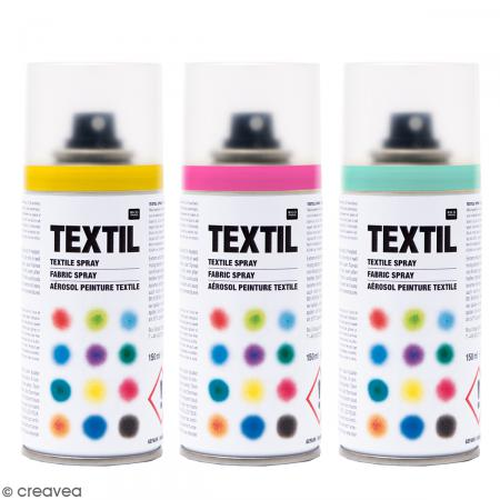 peintures en bombe pour tissus 150 ml peinture textile spray creavea. Black Bedroom Furniture Sets. Home Design Ideas