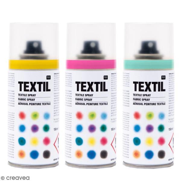 Peintures en bombe pour tissus - 150 ml - Photo n°1