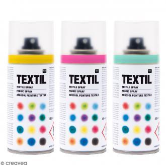Peinture textile petit prix livraison rapide creavea for Peindre a la bombe sur metal