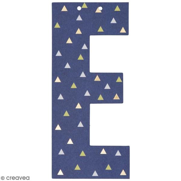 Lettre en papier pour guirlande - E - Multicolore - Photo n°1