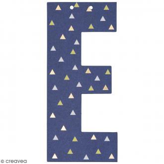 Lettre en papier pour guirlande - E - Multicolore