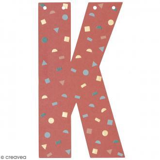 Lettre en papier pour guirlande - K - Multicolore