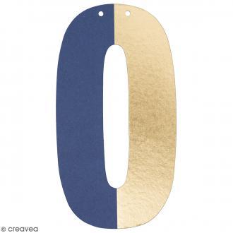 Lettre en papier pour guirlande - O - Multicolore