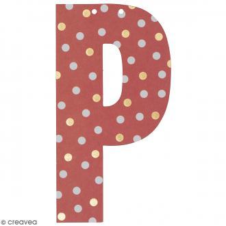 Lettre en papier pour guirlande - P - Multicolore