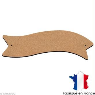 Plaque de porte banderole en bois 20x6 cm