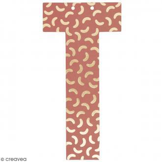 Lettre en papier pour guirlande - T - Multicolore