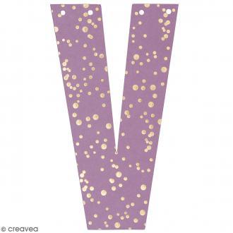 Lettre en papier pour guirlande - V - Multicolore