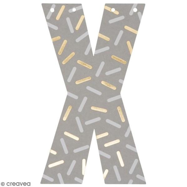 Lettre en papier pour guirlande - X - Multicolore - Photo n°1