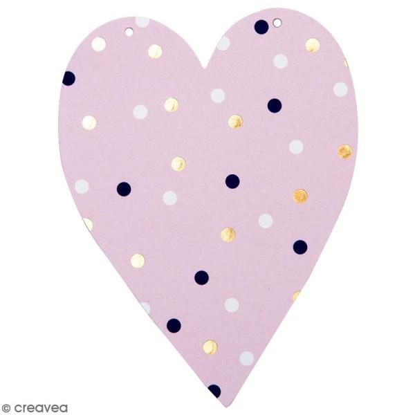 Coeur en papier pour guirlande à décorer - 14 x 10,5 cm - Multicolore - Photo n°1