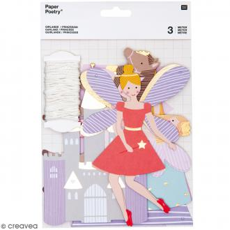 Kit guirlande de personnages - Princesse - 13 pcs