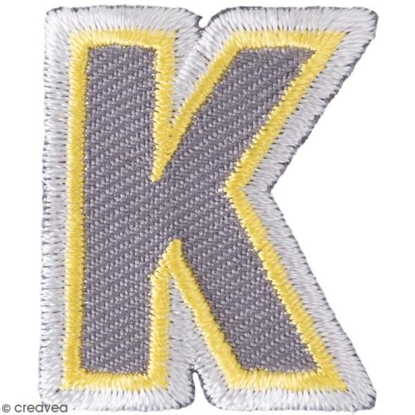 Ecusson thermocollant Alphabet - K - 27 x 32 mm - Photo n°1