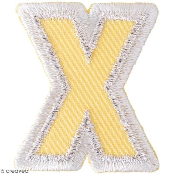 Ecusson thermocollant Alphabet - X - 28 x 32 mm - Photo n°1