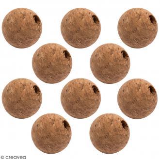 Perle en liège - 20 mm - 10 pcs