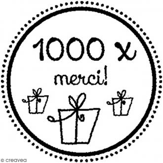 Tampon bois rond 3 cm - 1000 fois merci