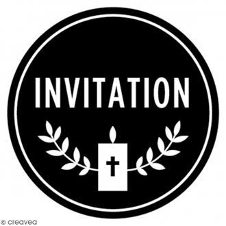 Tampon bois rond 3 cm - Invitation communion