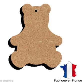 Ours en bois à suspendre  11 cm