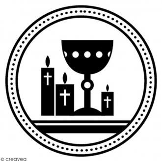 Tampon bois rond 3 cm - Coupe communion