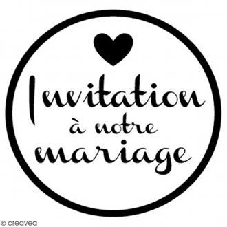 Tampon bois rond 3 cm - Invitation mariage