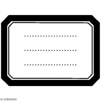 Tampon bois Divers - Etiquette vierge - 5,5 x 4,5 cm