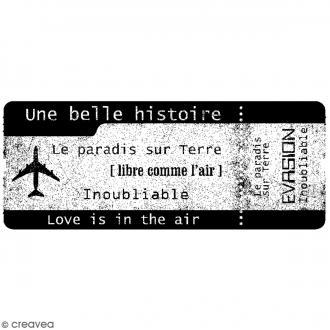 Tampon bois Divers - Belle histoire - 8,5 x 3,5 cm