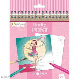 Cahier de Coloriage cartes postales - Graffy post Danseuses - 24 pages
