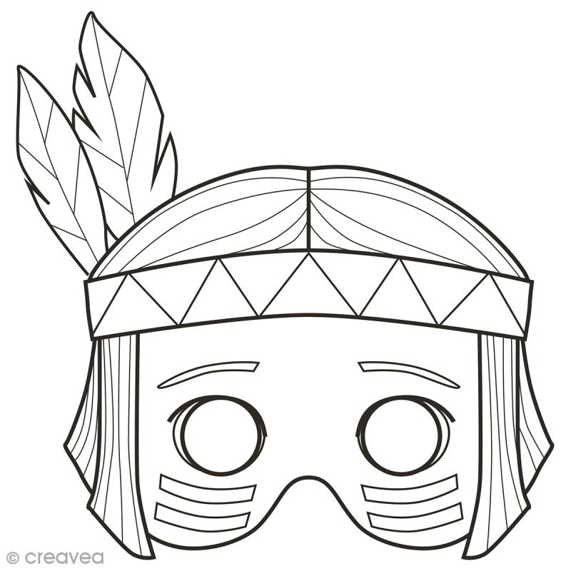 Masques colorier et d couper gar on 24 pages masque colorier creavea - Masque a colorier et a imprimer ...