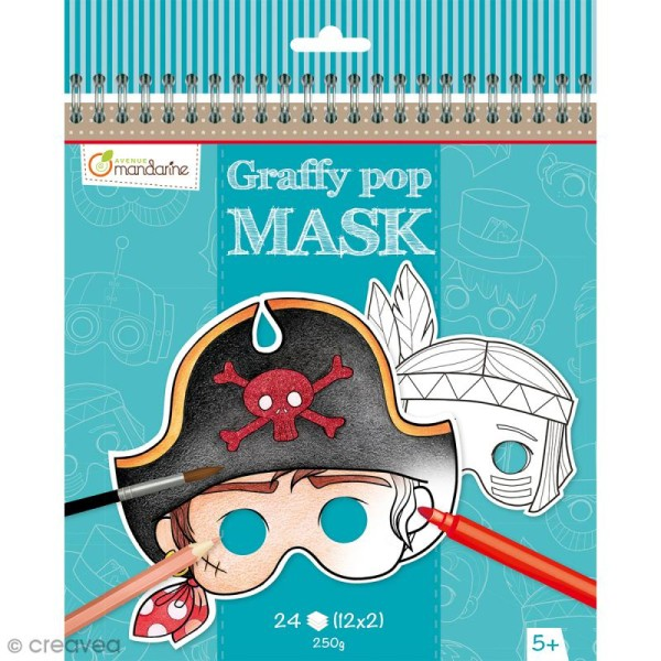 Masques à colorier et découper - Garçon - 24 pages - Photo n°1