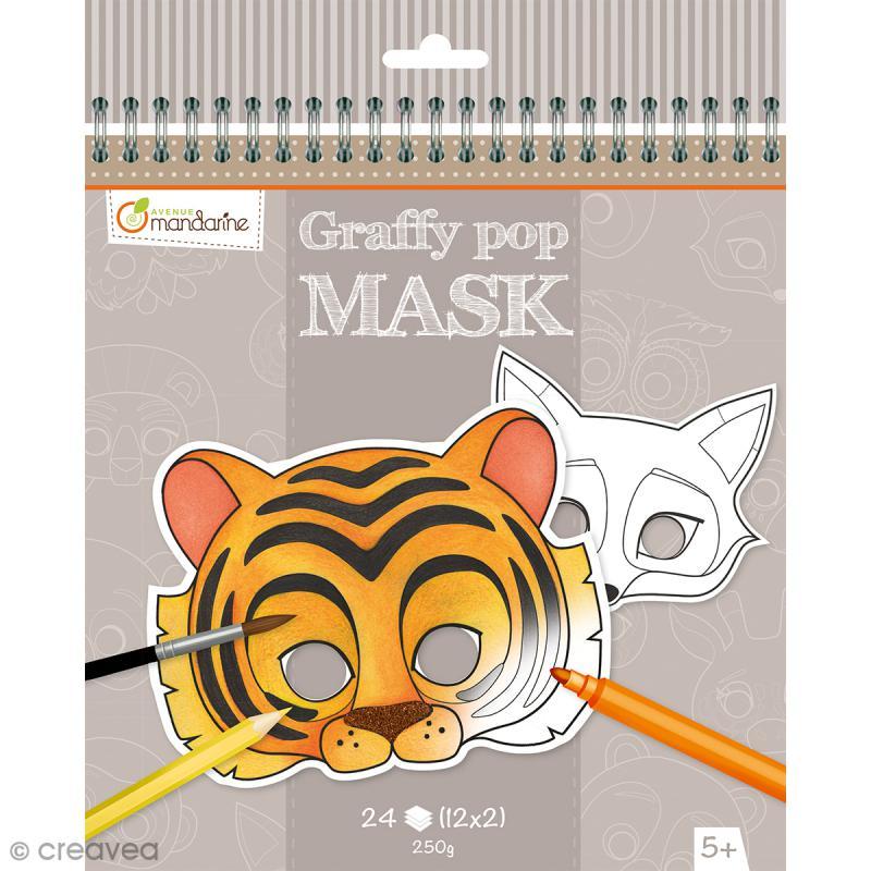Masques à colorier et découper - Animaux divers - 24 pages - Photo n°1