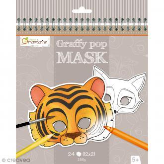 Masques à colorier et découper - Animaux divers - 24 pages