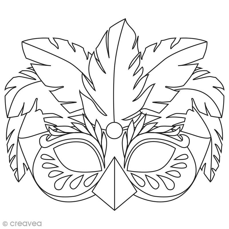 Masques colorier et d couper carnaval de rio 24 - Dessin de masque de carnaval ...