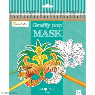 Masques à colorier et découper - Carnaval de Rio - 24 pages