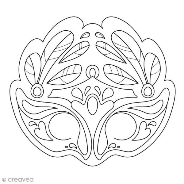 Masques A Colorier Et Decouper Carnaval De Venise 24 Pages Masque A Colorier Creavea