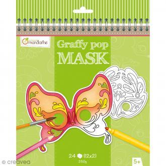 Masques à colorier et découper - Carnaval de Venise - 24 pages