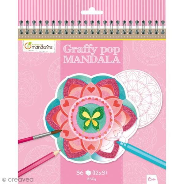 Cahier de Coloriage Graffy pop Mandala - Filles - 36 pages - Photo n°1
