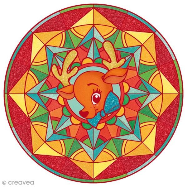 Bloc à colorier Graffy pop Mandala - Noël - 36 pages - Photo n°3