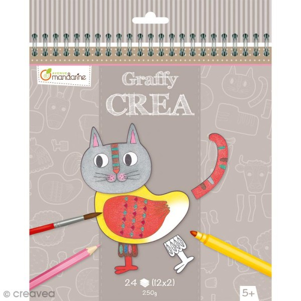 Cahier Graffy Crea - Modulo Animaux - 24 pages - Photo n°1