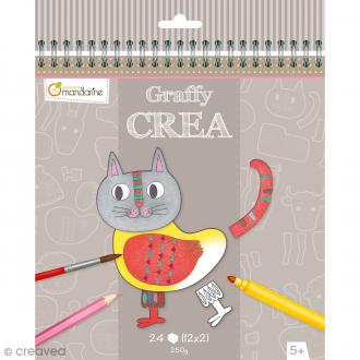 Cahier Graffy Crea - Modulo Animaux - 24 pages