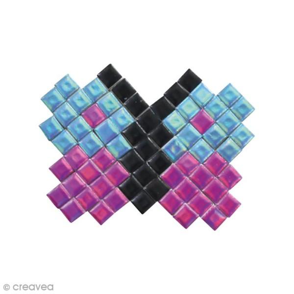 Kit gommettes Mosaïque - Square Stick Violet & Bleu - 1131 carrés de 5 mm - Photo n°2