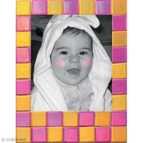Kit gommettes Mosaïque - Square Stick Rouge & Rose - 252 carrés de 1 cm - Photo n°2