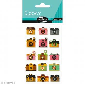 Sticker Fantaisie Cooky - Appareils photos - 15 pcs