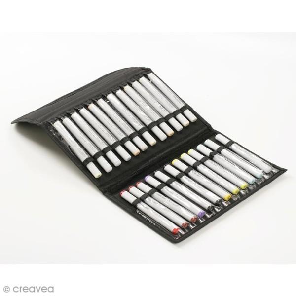 Trousse de rangement chevalet - Pour 24 marqueurs - 32 x 20 cm - Photo n°3