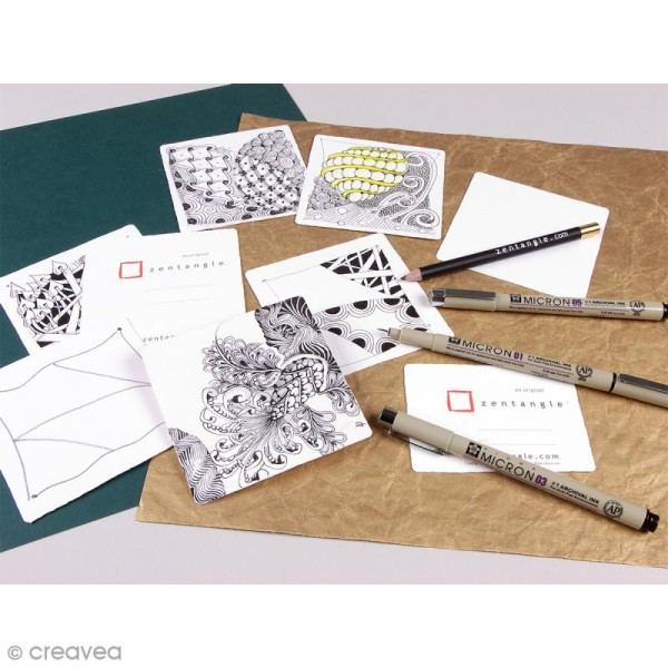 Kit Zentangle 10 pcs - Photo n°2
