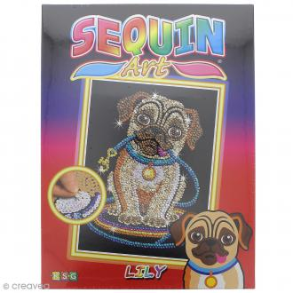 Sequin Art Chien - Lily le carlin