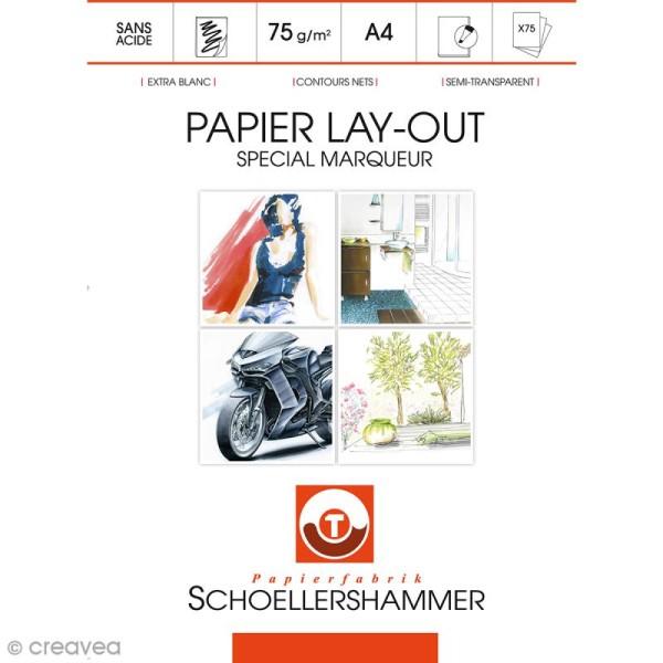 Bloc de papier Layout spécial marqueurs - A4 - 75 feuilles - Photo n°1