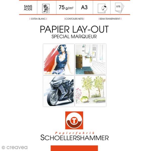 Bloc de papier Layout spécial marqueurs - A3 - 75 feuilles - Photo n°1