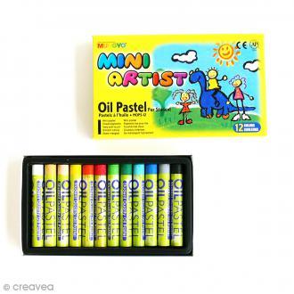 Pastel à l'huile 8 mm - Mini artist - 12 pcs