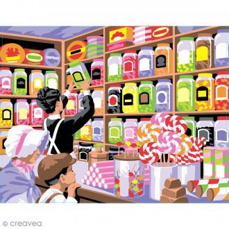 Peinture au numéro - Le paradis des bonbons - 30 x 40 cm
